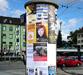 Werbung auf Litfaßsäulen in nahezu allen Orten und Innenstädten